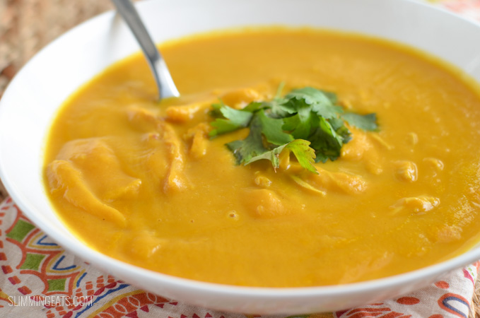 Slimming Eats Instant Pot Chicken Butternut Squash Coconut Curry Soup - gluten free, dairy free, paleo, Slimming World and Weight Watchers friendly