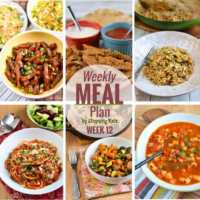 Slimming Eats Weekly Meal Plan – Week 12