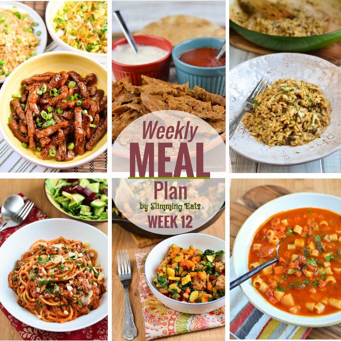 Slimming eats weekly meal plan week 12 slimming world recipes Slimming world meal ideas