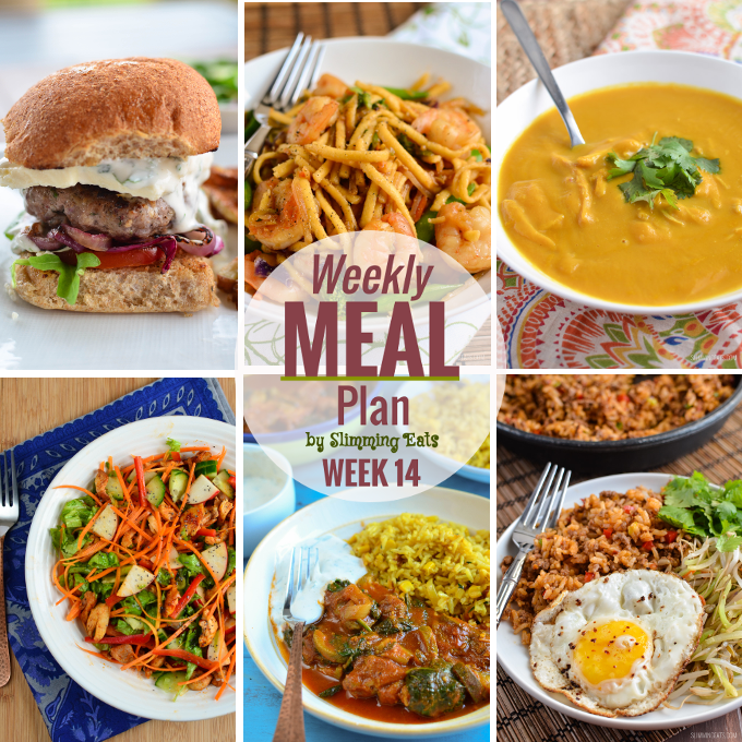 Slimming Eats Weekly Meal Plan - Week 14 - Slimming World
