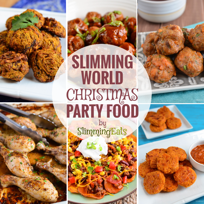 Slimming Eats Christmas and New Year Party Food - lots of ideas and suggestions for party food over the festive food - sweet, savoury, sharing plates and fakeaways