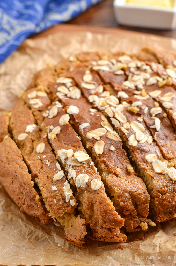 Healthy Extra Gluten Free Soda Bread - the perfect side for all your favourite soups, stews and casseroles.  gluten free, vegetarian, Slimming World and Weight Watchers friendly