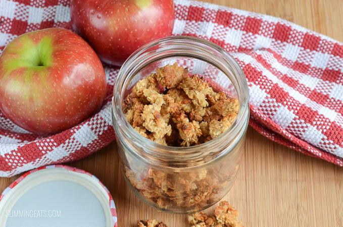 Slimming Eats Low Syn Easy Healthy Apple Granola - gluten free, dairy free, vegetarian, Slimming World and Weight Watchers friendly