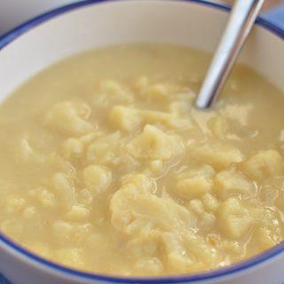 Syn Free Cauliflower Cheese Soup