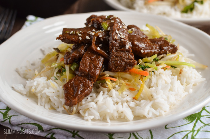 Slimming Eats Low Syn Korean Style Beef (bulgogi) - gluten free, dairy free, paleo, Slimming World and Weight Watchers friendly