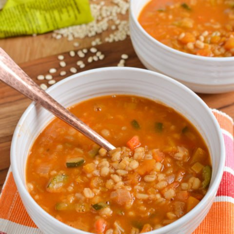 Vegetable and Pearl Barley Soup (Instant Pot, Stove Top)