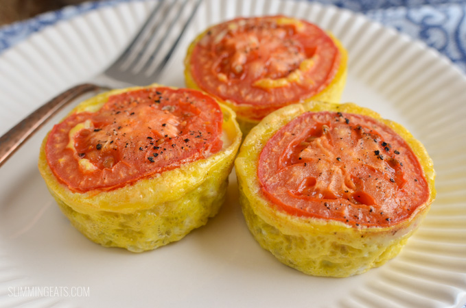 Slimming Eats Make-Ahead Bacon Egg Potato Breakfast Bites - gluten free, dairy free, vegetarian, paleo, Slimming World and Weight Watchers friendly
