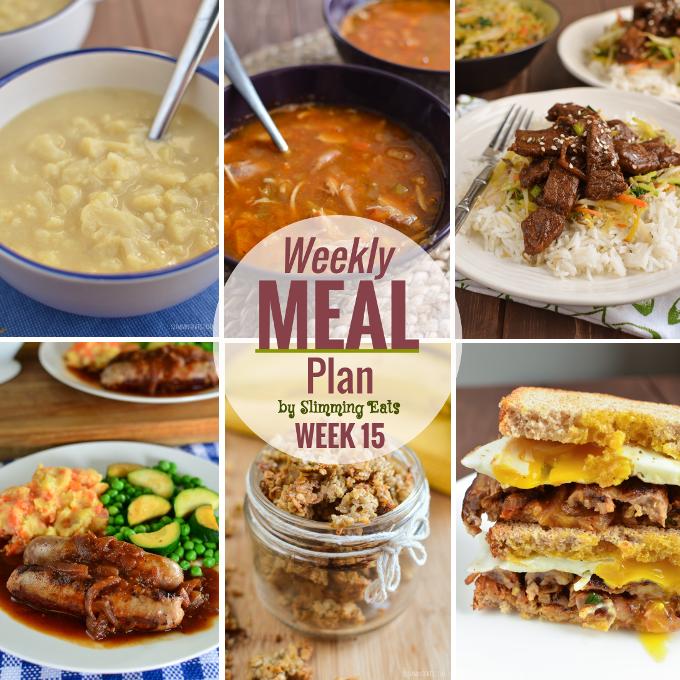 Slimming Eats Weekly Meal Plan - Week 15 - Slimming World