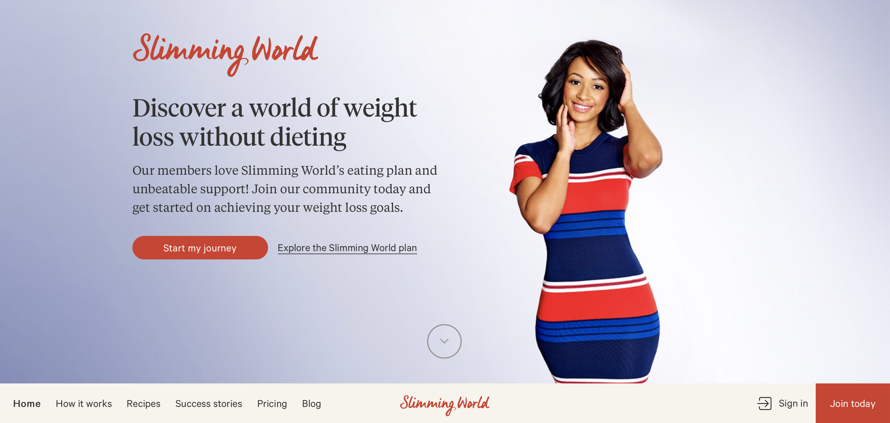 Image of Slimming World USA log in screen