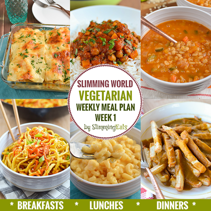 Slimming eats vegetarian weekly meal plan week 1 slimming world recipes Simple slimming world meals