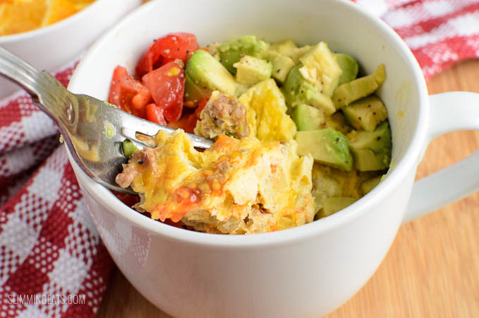 Slimming Eats Quick Breakfast in a Mug - gluten free, dairy free, vegetarian, paleo, whole30, Slimming World and Weight Watchers friendly