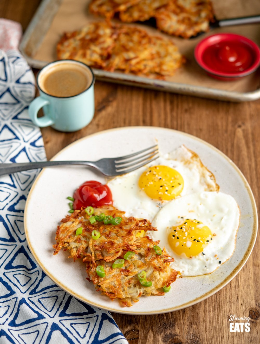 picture of has brown and eggs breakfast you can enjoy on Slimming World