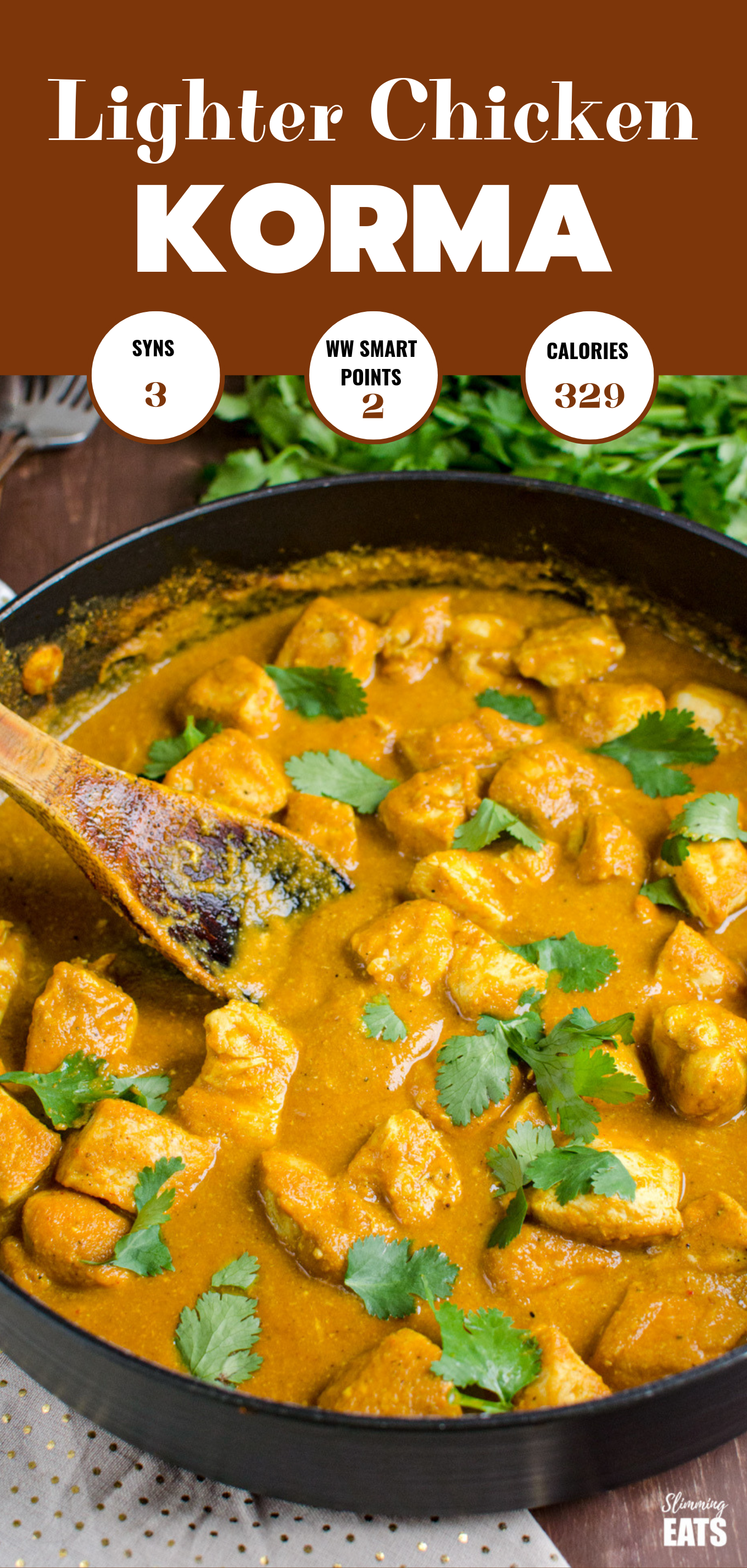 chicken korma featured pin image
