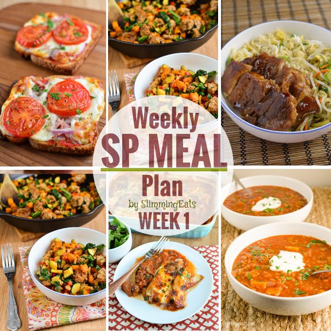 Slimming Eats SP Weekly Meal Plan - Week 1 - Slimming World