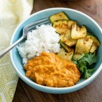 4 ingrédients rapide Curry lentilles (pot instantané)