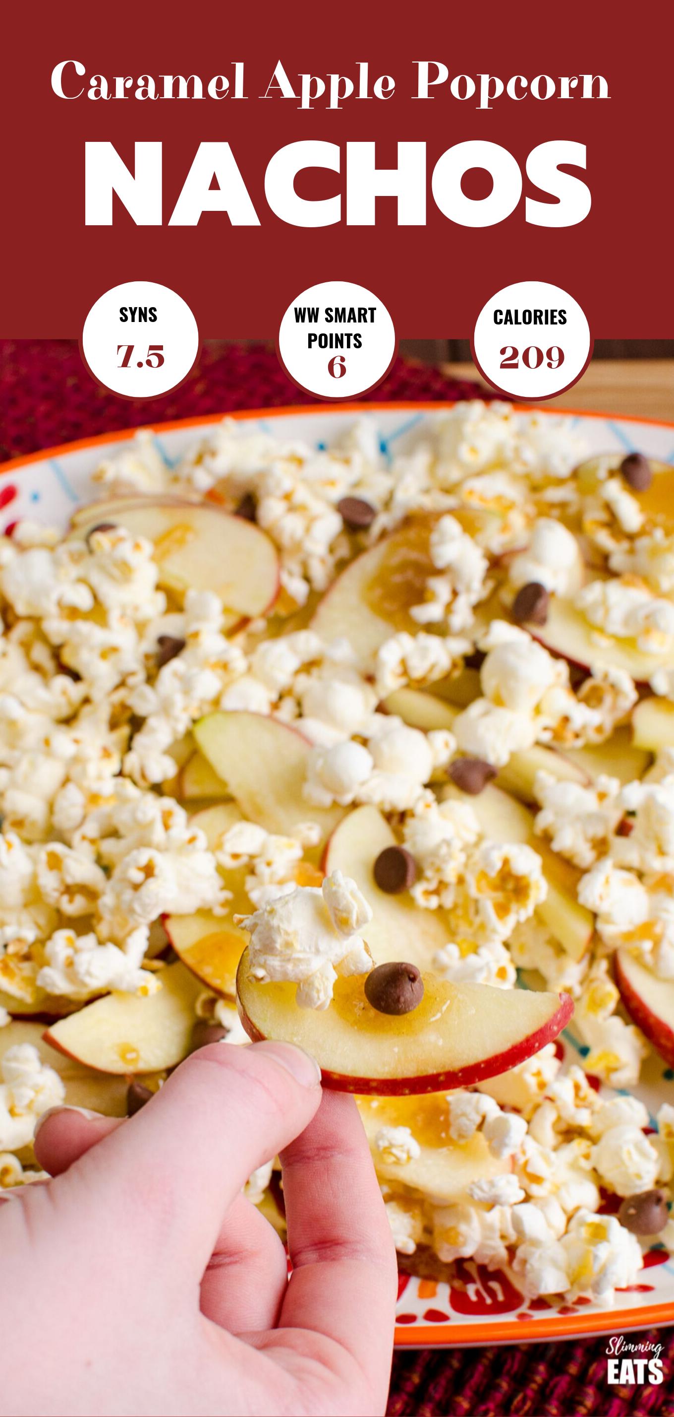 caramel apple popcorn nachos.