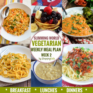 Slimming Eats Vegetarian Weekly Meal Plan – Week 2
