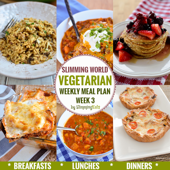 Slimming eats vegetarian weekly meal plan week 3 slimming eats slimming world recipes Slimming world meal ideas