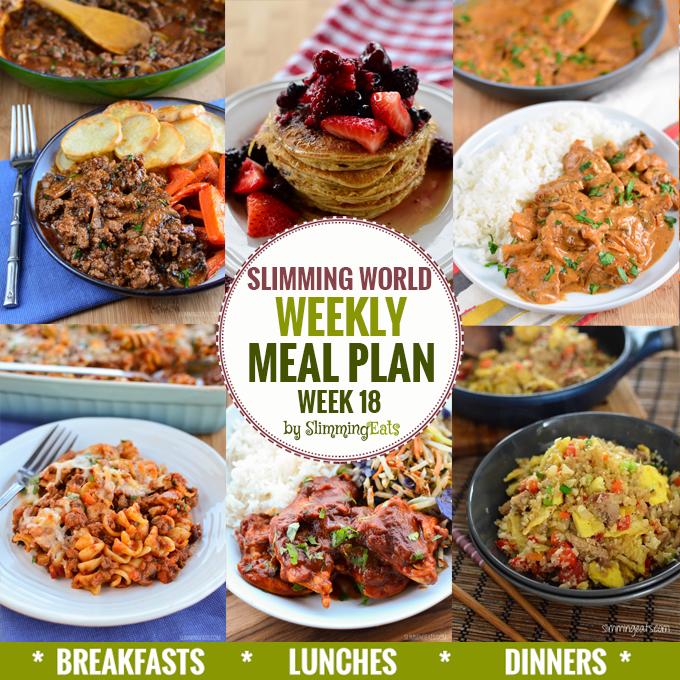 Slimming Eats Weekly Meal Plan – Week 18