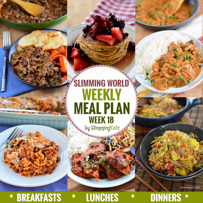Slimming Eats Weekly Meal Plan - Week 18 - Slimming World Recipes - taking the work out of planning so you can just cook and enjoy the delicious food