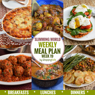 Slimming Eats Weekly Meal Plan – Week 19