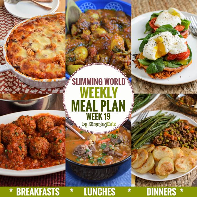 Slimming Eats Weekly Meal Plan - Week 19 - Slimming World Recipes