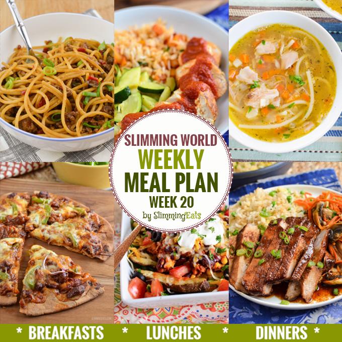 Slimming Eats Weekly Meal Plan – Week 20