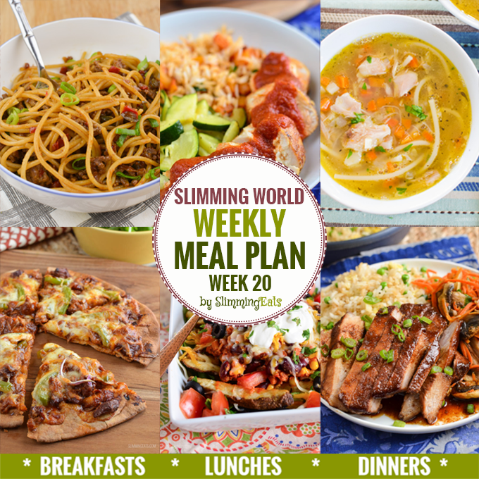 Slimming Eats Weekly Meal Plan - Week 20 - Slimming World recipes - taking the work out of planning so that you can just cook and enjoy the food