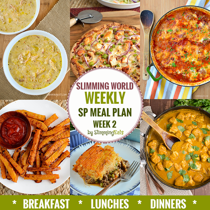 Slimming eats sp weekly meal plan week 2 slimming eats slimming world recipes New slimming world plan