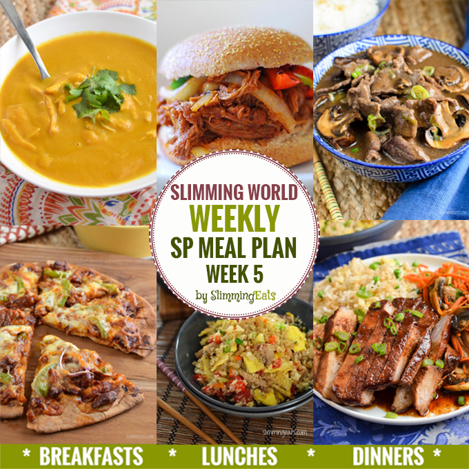 Slimming Eats SP Weekly Meal Plan – Week 5