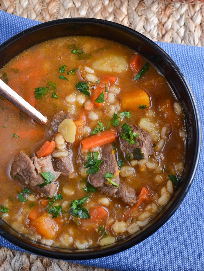 Syn Free Beef Vegetable  Barley Soup