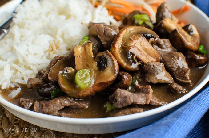 Low Syn Beef with Mushrooms in Oyster Sauce | Slimming ...