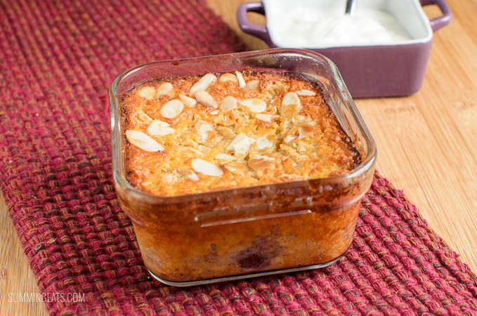Slimming Eats Cherry Almond Baked Oatmeal - gluten free, vegetarian, Slimming World and Weight Watchers friendly