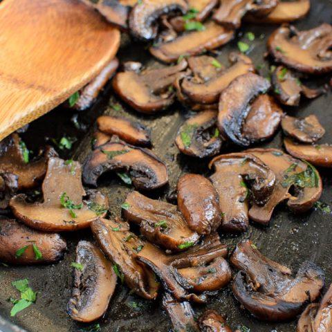 Syn Free Sautéed Garlic Mushrooms