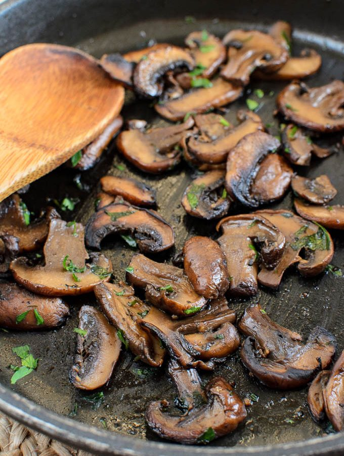 Syn Free Sautéed Garlic Mushrooms