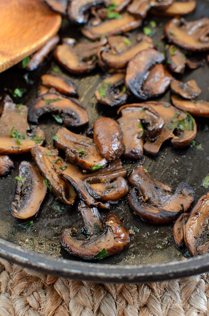 Slimming Eats Syn Free Sautéed Garlic Mushrooms - gluten free, dairy free, vegetarian, Slimming Eats and Weight Watchers friendly