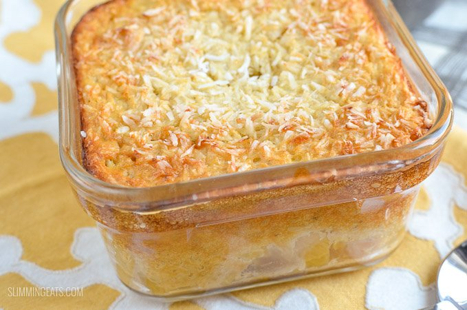 Slimming Eats Pina Colada Baked Oatmeal - gluten free, vegetarian, Slimming World and Weight Watchers friendly