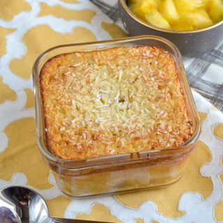 Pina Colada Baked Oatmeal