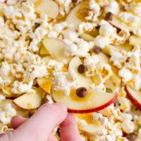 Caramel Apple Popcorn Nachos