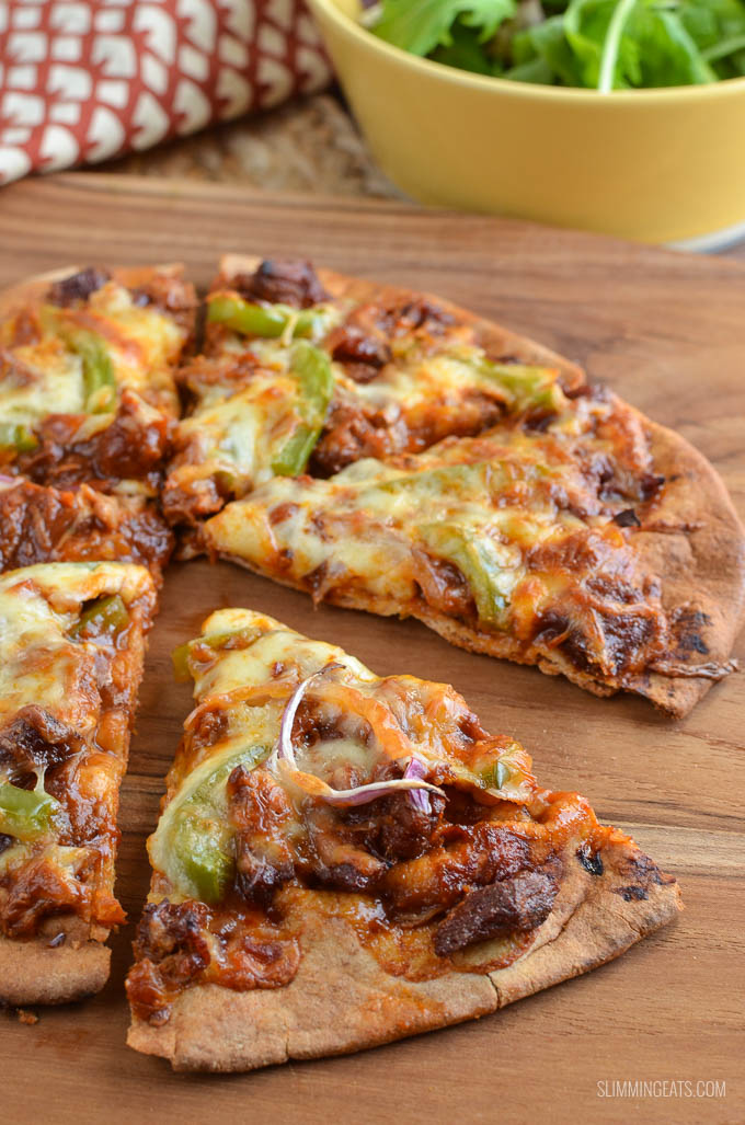 Slimming Eats Low Syn Pulled Pork Pizza - Gluten Free, Slimming World and Weight Watchers friendly