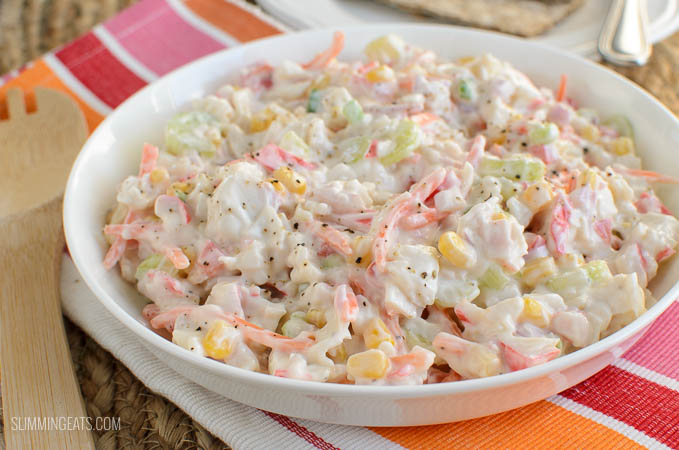Slimming Eats Low Syn Seafood Salad - Slimming World and Weight Watchers friendly