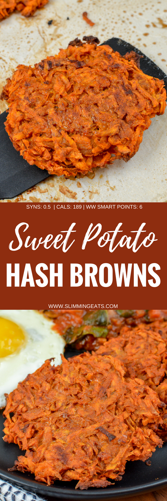 Oven Baked Sweet Potato Hash Browns | Slimming World