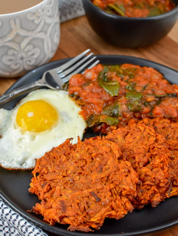Oven Baked Sweet Potato Hash Browns