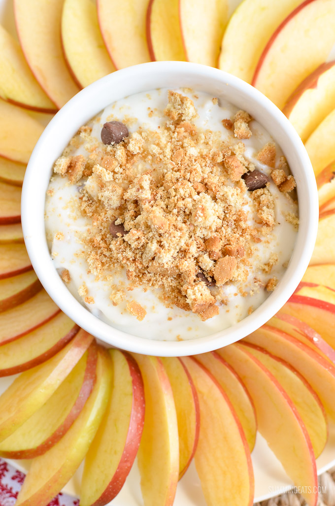 Slimming Eats Low Syn Cheesecake Dip with Apple Nachos - gluten free, vegetarian, Slimming World and Weight Watchers friendly