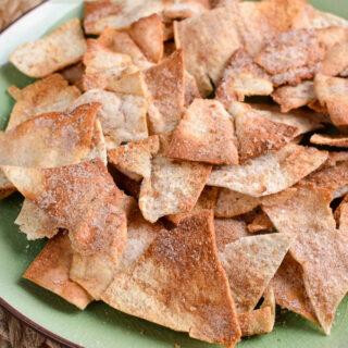 Syn Free Cinnamon Sugar Pita Chips