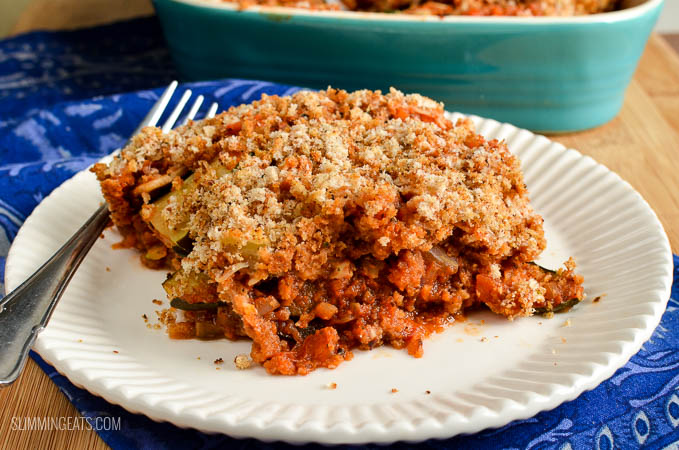 Slimming Eats Syn Free Roasted Vegetable Gratin - vegetarian, Slimming World and Weight Watchers friendly