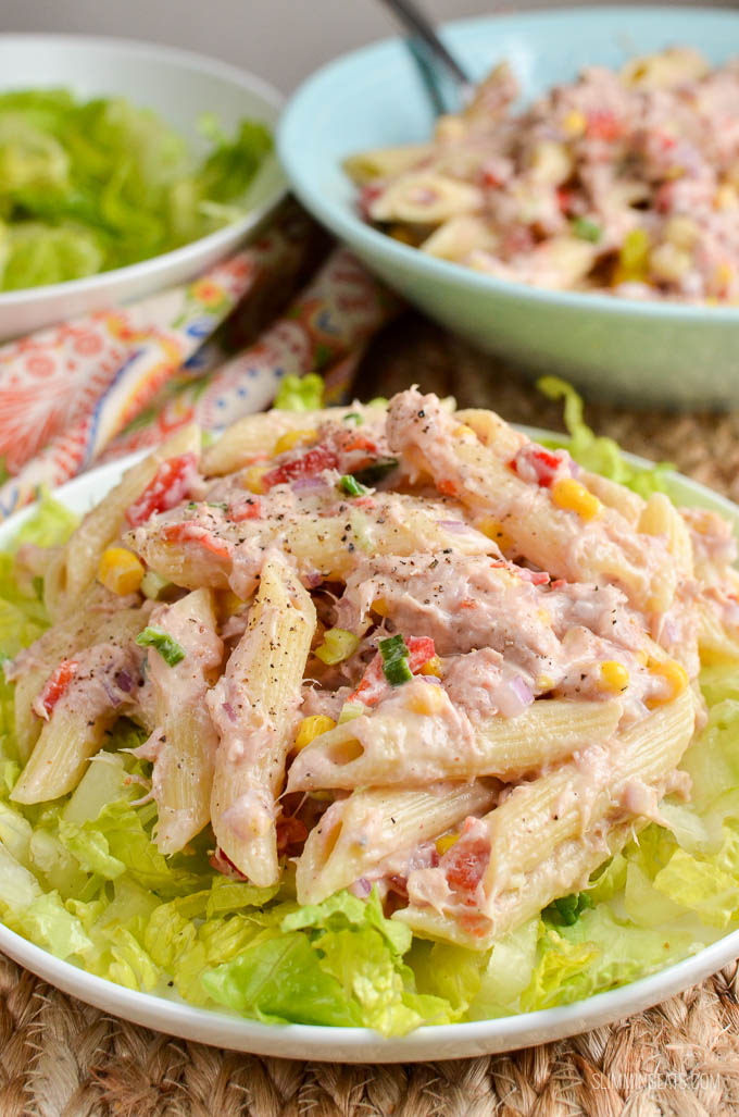 Slimming Eats - Slimming World Tuna Pasta Salad - gluten free, Slimming World and Weight Watchers friendly