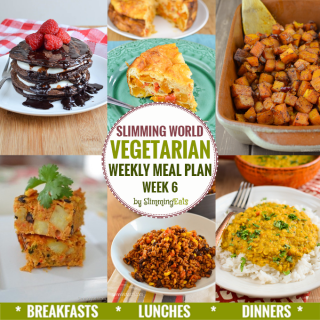 Slimming Eats Vegetarian Weekly Meal Plan – Week 6