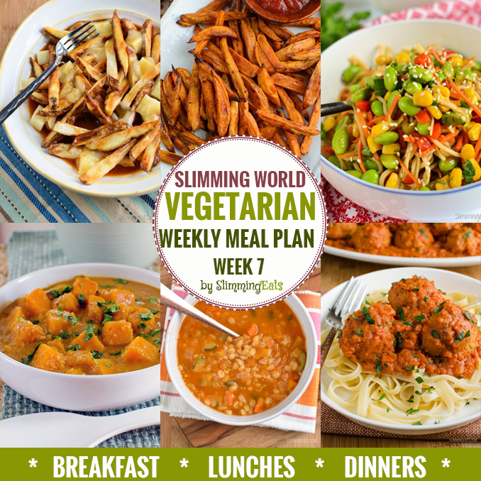 Slimming Eats Vegetarian Weekly Meal Plan - Week 7 - Slimming World recipes - taking all the work out of planning so that you can just cook and enjoy the food.
