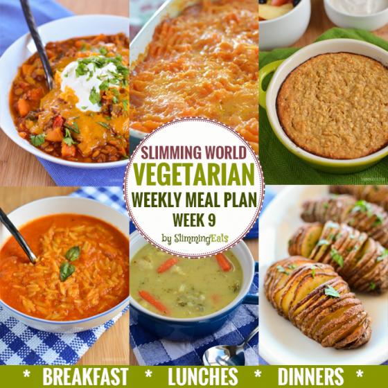 Slimming Eats Vegetarian Weekly Meal Plan – Week 9